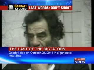 Gaddafi killed - Last of the dictators