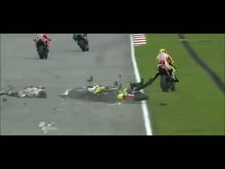 Marco Simoncelli Fatal Crash Sepang 2011- Rest In Peace!