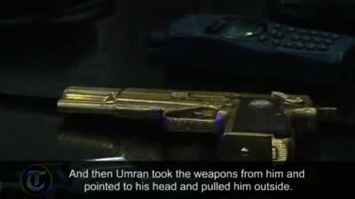 Colonel Gaddafi's captors display his guns