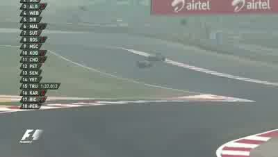 Sebastian Vettel Off Track - Round 17 - India GP 2011 Free Practice 1 [HQ]
