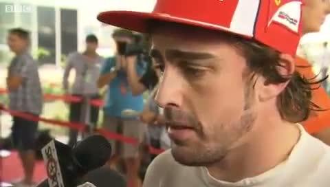 Fernando Alonso Sanguine After Qualifying - BBC - F1 2011 - Round 17 - India