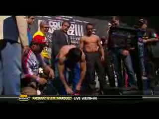 Manny Pacquiao vs. Juan Manuel Marquez 3 Official Weigh-in