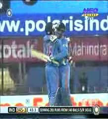 Virender Sehwag 219 runs vs West Indies