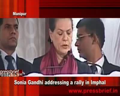 Sonia Gandhi in Manipur (Imphal), 3rd December 2011