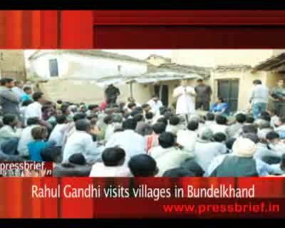 Rahul Gandhi visits villages in Bundelkhand