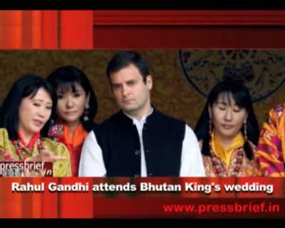 Rahul Gandhi attends Bhutan Kings wedding