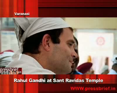 Rahul Gandhi at Sant Ravidas Temple, 1st Nov. 2011