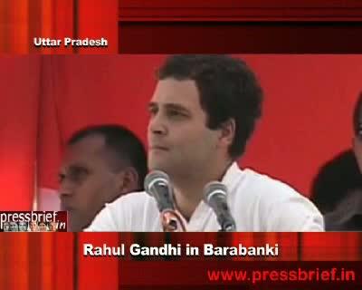 Rahul Gandhi in Barabanki (Uttar Pradesh), 22-11-2011