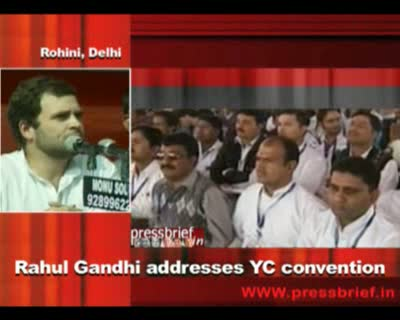 Rahul Gandhi addresses Youth Congress convention 28th November 2011