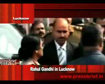 Congress General Secretary Rahul Gandhi in Lucknow, 10th December 2011