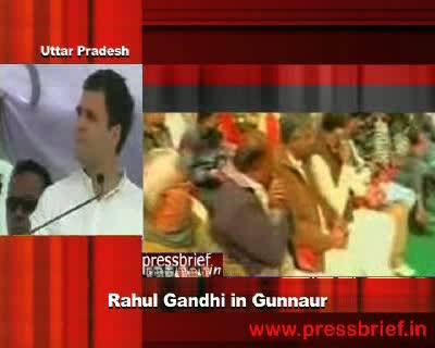 Rahul Gandhi at Gunnaur, U.P, 13th December 2011