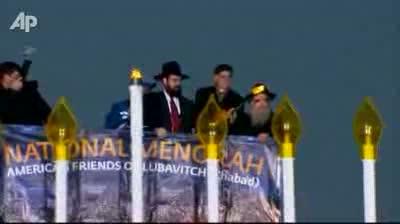 National Menorah Lit in Washington