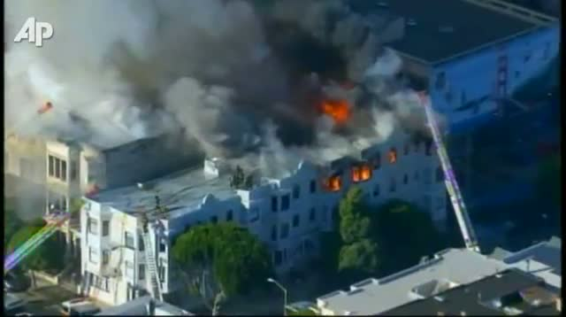 4-Alarm Multi-building Fire in S.F.