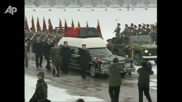 Heir Leads Funeral of Kim Jong Il
