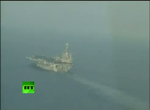 US carrier filmed from Iran plane during drill in Persian Gulf