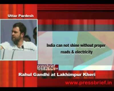 Rahul Gandhi at Lakhimpur kheri (U.P), 27th December 2011