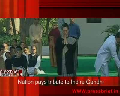 Nation pays tribute to indira Gandhi 31th Oct 2009