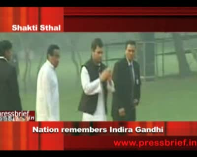 The nation remembered former Prime Minister Indira...