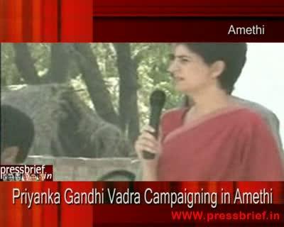 Priyanka Gandhi Vadra Campaigning in Amethi (UP) 12th April 2009