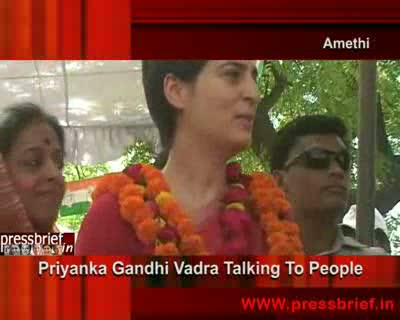 Priyanka Gandhi Campaigning in Amethi (UP),12th April 2009
