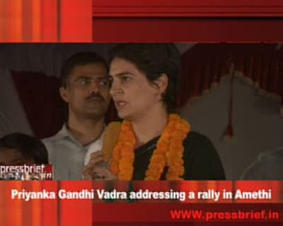 Priyanka Gandhi vadra addressing a rally in Amethi_20 April 2009
