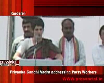 Priyanka Gandhi Vadra addressing Party Workers in Raebareli_11th June 2009