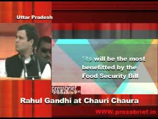 Rahul Gandhi in Chauri Chaura, (U.P) 8th January 2012