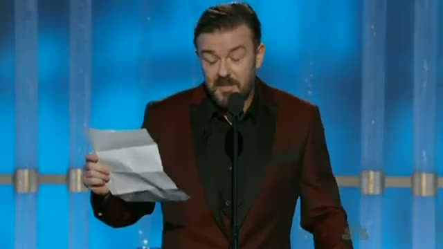 GOLDEN GLOBES - Ricky Gervais talks through his list of rules