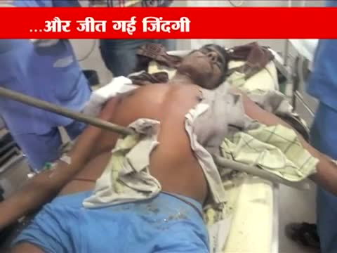 Iron rod pierces through man,s stomach in Faridabad