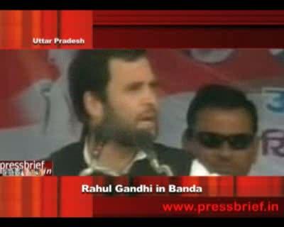 Rahul Gandhi in Banda
