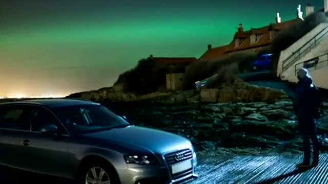 Northern Lights - The Aurora Borealis visible over northern England and Scotland