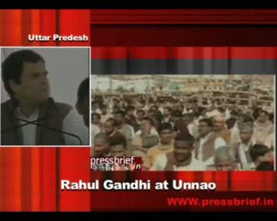 Rahul Gandhi at Unnao