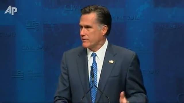 Romney Slams President Obama at CPAC
