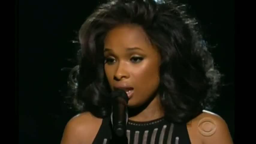 Grammys - Jennifer Hudson's emotional Whitney Houston tribute