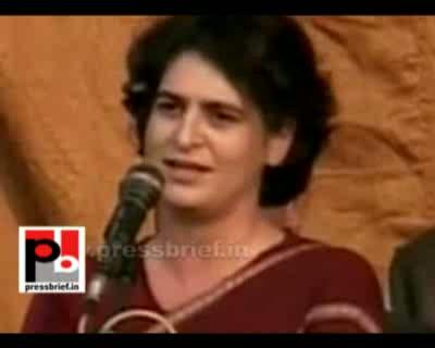 Priyanka Gandhi Vadra in Musafirkhana, Amethi (U.P), 3rd Feb. 2012
