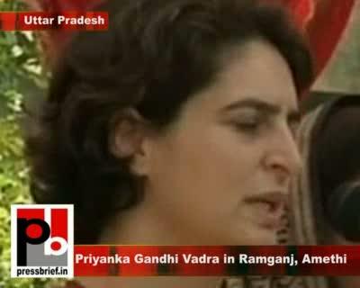 Priyanka Gandhi Vadra in Ramganj, Amethi (U.P), 6th Feb. 2012