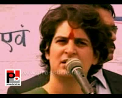 Priyanka Gandhi in Karahiya Bajar,Amethi (U.P), 9th Feb. 2012