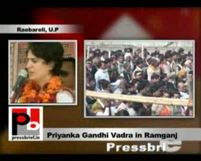 Please remember the fabulous development had taken place under Indira Ji. That time both state and the Centre were ruled by the Congress reminded Priyanka Gandhi Vadra. She was talking at an election meeting at Raebareli's Ramganj area.