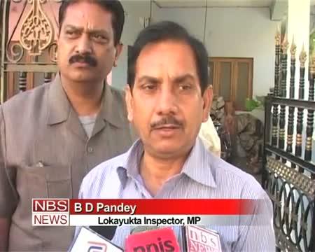 Lokayukta raids police official residence in Indore
