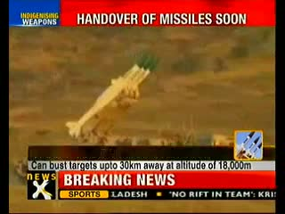 Akash missile, Torpedo to be inducted in IAF, Navy