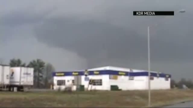 Raw Video - Massive Band of Storms Hits Indiana