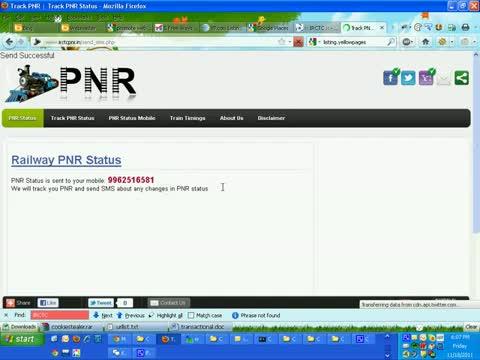 IRCTC PNR status enquiry Tips