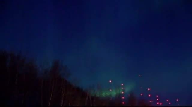 Raw Video - Solar Storm Fuels Northern Lights