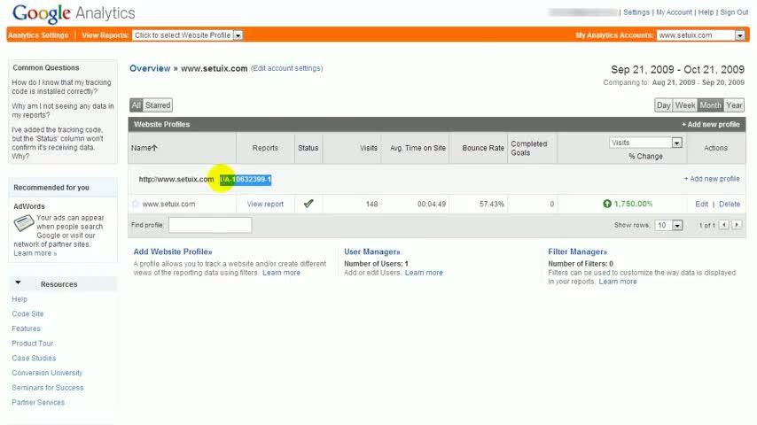 Google Analytics Tutorial - How to get Google Analytics Account ID