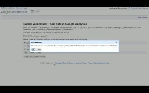 Google Analytics Tutorial - How to Link Webmaster Tools to Google Analytics