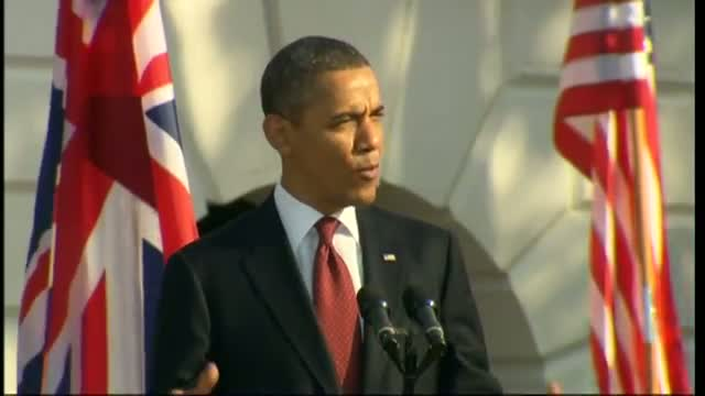 President Obama welcomes David Cameron to the White House