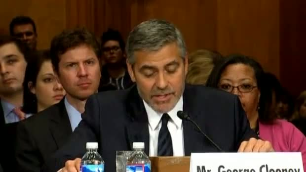 George Clooney warns US Congress of disaster in South Sudan