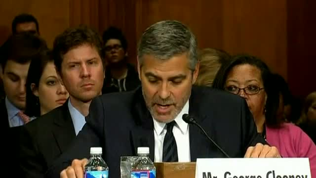George Clooney addresses the Senate over the Sudan crisis