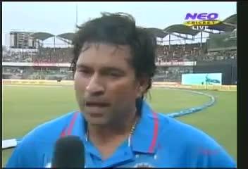 Sachin's 100th Century Interview - Chase Your Dream, Dreams Comes True