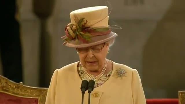 The Queen's speech - Diamond Jubilee address in Westminster video
